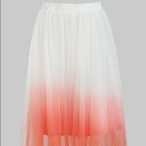 Ombre Mid Calf Tulle Skirt